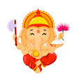 happy ganesh chaturthi greeting card vector image