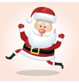 happy santa claus cartoon jump design vector image