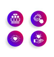 heart employees group and smile icons set hold vector image vector image