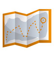 hiking map icon cartoon style vector image vector image