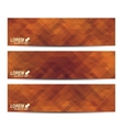 Horizontal set of banners Background with vector image vector image