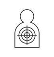 human shape shooting target police related icon vector image