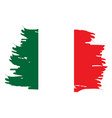 isolated italian flag vector image vector image