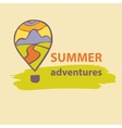 logo travel company Summer Adventures vector image