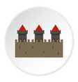 medieval fortification icon circle vector image vector image