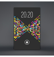 Modern Lock Screen for Mobile Apps vector image