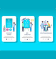 ophthalmology mobile app onboarding screens vector image
