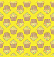orange lemon cream cake seamless pattern vector image vector image