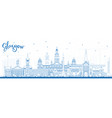 outline glasgow scotland city skyline with blue vector image vector image
