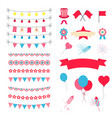 party and celebration design elements collection vector image