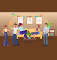 party at home flat vector image vector image