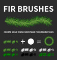 pine tree brushes vector image