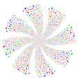 pointer finger fireworks swirl rotation vector image vector image