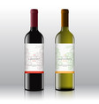 premium quality red and white wine labels set on vector image vector image