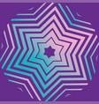 purple david star pattern vector image vector image