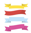 realistic colorful ribbons isolated on white vector image