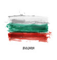 realistic watercolor painting flag of bulgaria vector image vector image