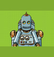 robot covered his ears vector image vector image