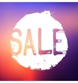 Sale label in a grunge style vector image vector image