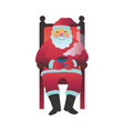 santa claus in slippers vector image vector image