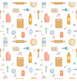 seamless pattern on white background baking flat vector image