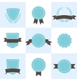 Set of badges shields and wreaths vector image vector image