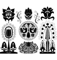 Set of decorative patterns vector image