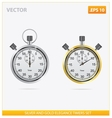 silver and gold elegance timers vector image vector image