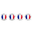 simple made in france french translation 3d vector image vector image