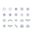 star line icons premium sparkle symbols set vector image