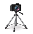 Tripod isolated on white vector image