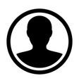 user icon male person symbol profile avatar vector image vector image