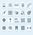 ventilation equipment line icons air conditioning vector image vector image