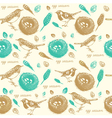 Vintage Sparrow Nest Pattern vector image vector image
