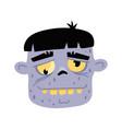 walking dead man head icon in cartoon style vector image