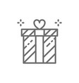 wedding gift giftbox present surprise line icon vector image