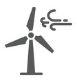 wind turbine glyph icon ecology and energy vector image