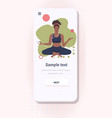 woman doing yoga exercises healthy lifestyle vector image