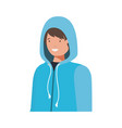 young man with winter clothes avatar character vector image vector image