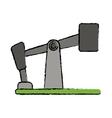 drawn oil pump drilling petroleum industry vector image