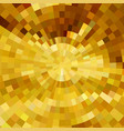 abstract gold shiny concentric mosaic vector image