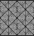 abstract monochrome seamless hand drawn pattern vector image vector image