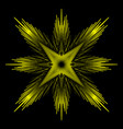 abstract yellow star on a black background vector image vector image