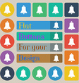 Alarm bell icon sign Set of twenty colored flat vector image