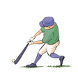 baseball player hits the ball vector image vector image