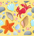 beach theme seamless background 1 vector image