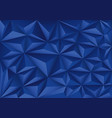 blue polygon triangle pattern design modern vector image