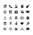 bridal symbols wedding black vector image