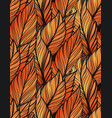 bright leaves seamles pattern vector image