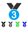 bronze medal flat icon vector image vector image